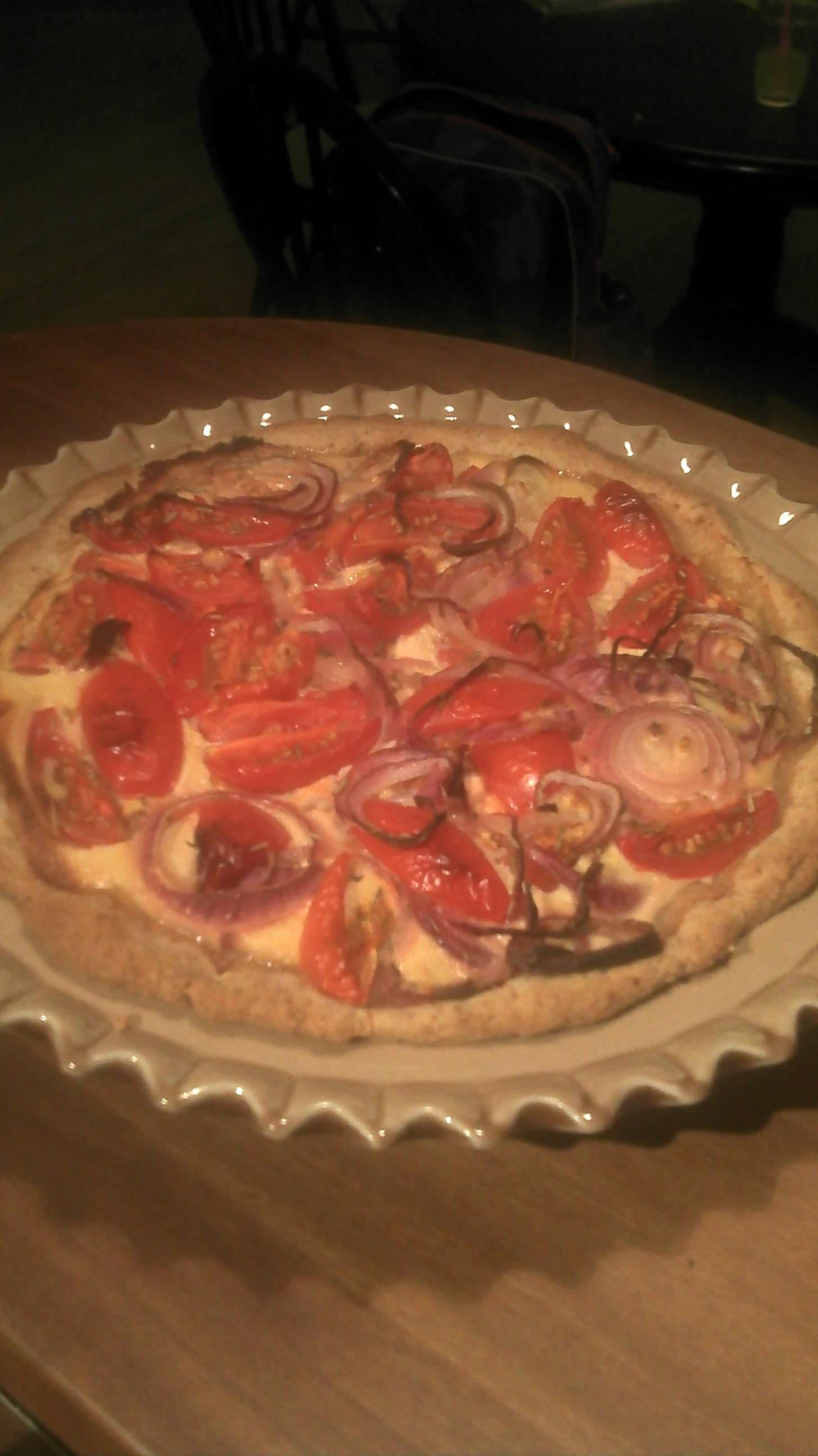Tærte med tomat og rosmarin
